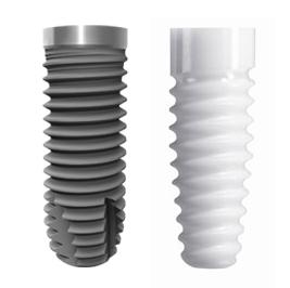 Titan und Zirkon Implantate